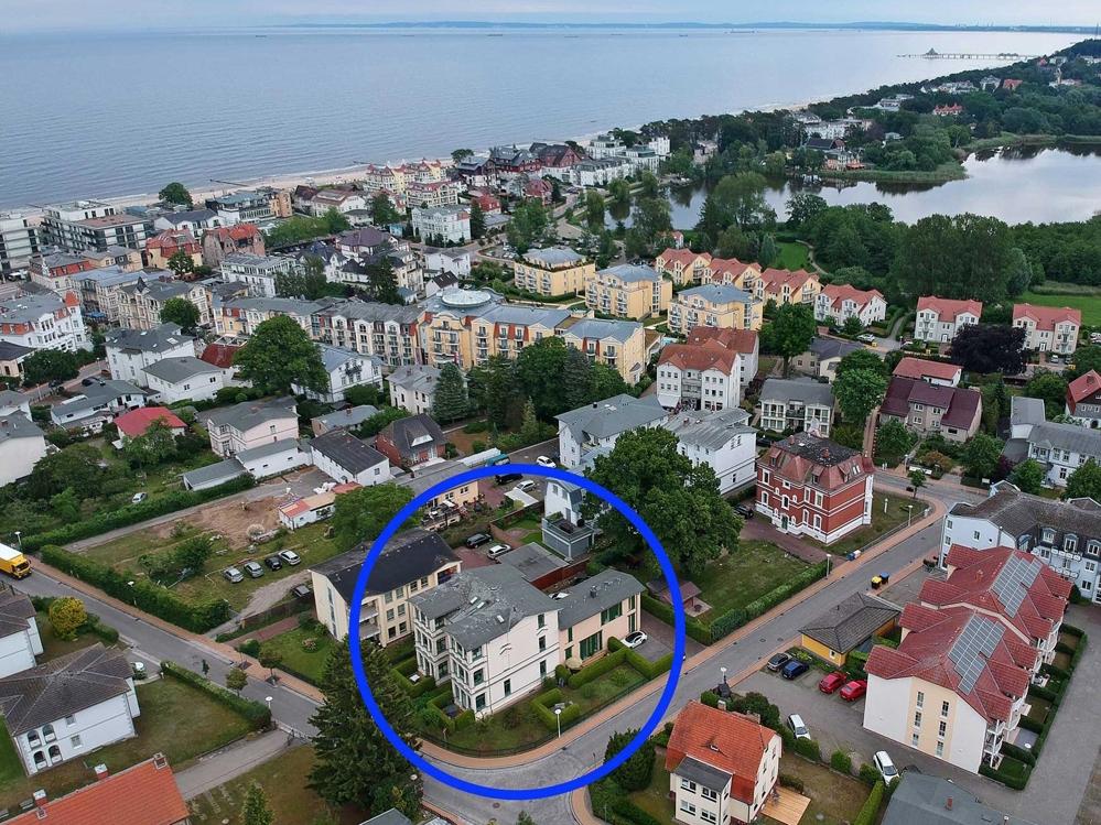 Luftaufnahme Villa Waldblick Bansin