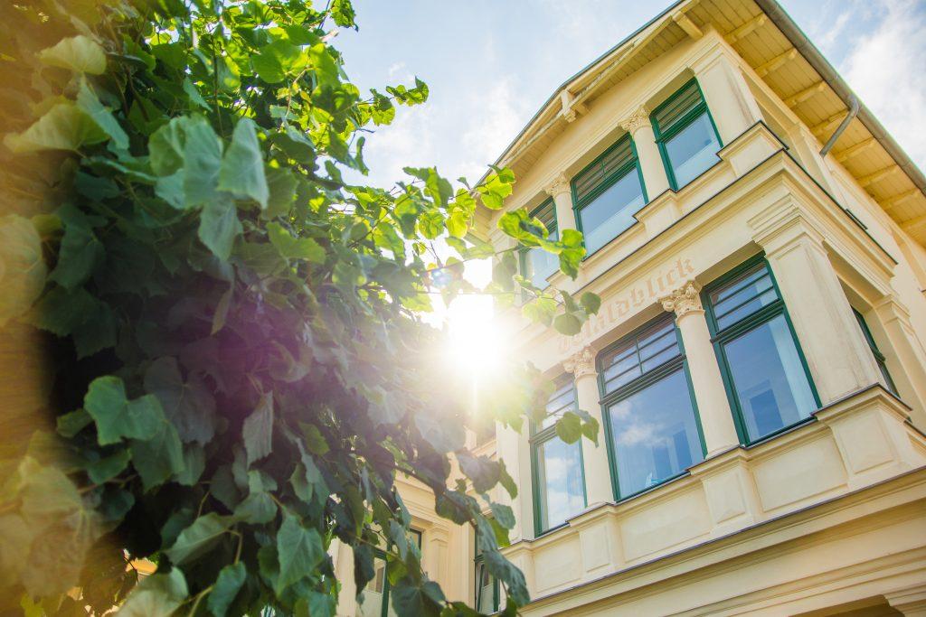 Villa Waldblick Bansin Bäderstil Loggia Wohnung 8